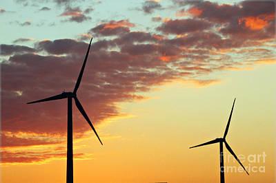 Photograph - Windmills Of Western Iowa by Elizabeth Winter