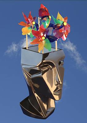 Digital Art - Windmills Of Your Mind by Ed Lukas