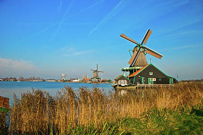 Art Print featuring the photograph Windmills On De Zaan by Jonah  Anderson