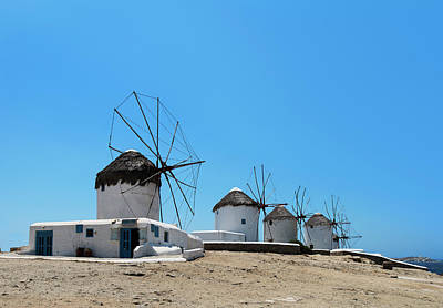 Photograph - Windmills On Mykonos by Ed Freeman