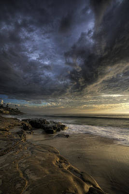 Windnsea Stormy Sky Art Print by Peter Tellone