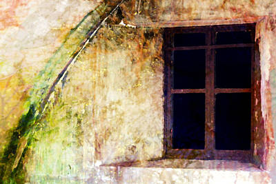 Photograph - Window - Water Color - Fort by Marie Jamieson