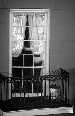 Photograph - Window Access In Black And White by Greg Mimbs