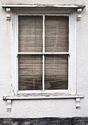 Window Wall Art - Photograph - Window And Blind by Tom Gowanlock