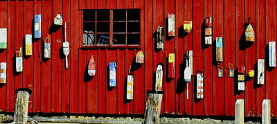 Photograph - Window And Buoys by Caroline Stella