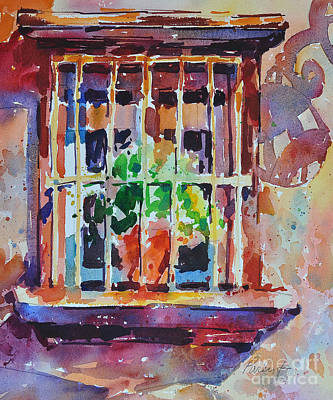Art Print featuring the painting Window And Cast Shadow by Roger Parent