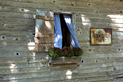 Photograph - Window And Flowerbox by Gordon Elwell