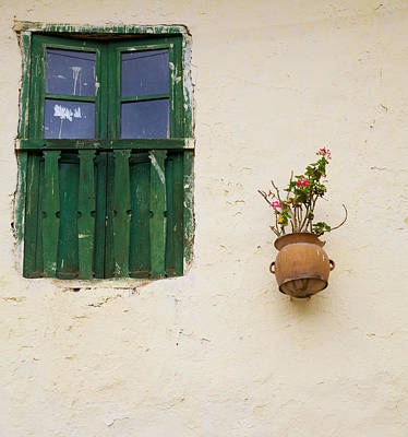 Photograph - Window And Flowers by Alexey Stiop