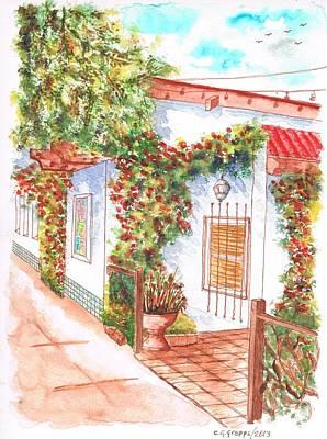 San Carlos Painting - Window And Plants In San Luis Obispo - California by Carlos G Groppa