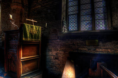 Holy Digital Art - Window And Pulpit by Nathan Wright