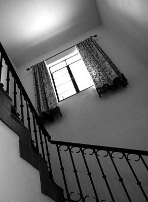 Photograph - Window And Stairs by Joe Kozlowski