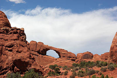 Photograph - Window Arch 1 Arches National Park by Mary Bedy