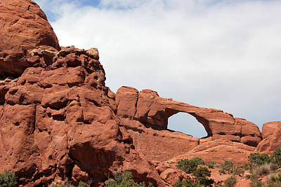 Photograph - Window Arch 2 Arches National Park by Mary Bedy