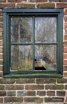 Window At Abbott's Mill Art Print by Brian Wallace