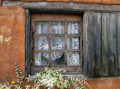 Window At Old Santa Fe Print by Kurt Van Wagner