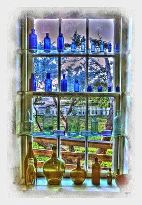 Translucence Digital Art - Window Bottle Display by Rick Lloyd