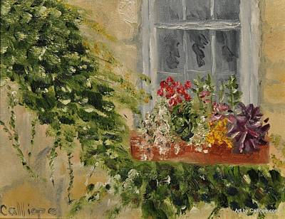 Painting - Window Box by Calliope Thomas