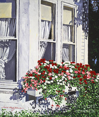 Flower Boxes Painting - Window Box Colors by David Lloyd Glover