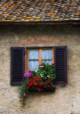 Photograph - Window Box Italy by Bob Coates