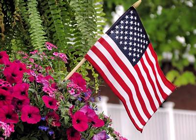 Photograph - Window Box Patriotic Display by Janice Drew