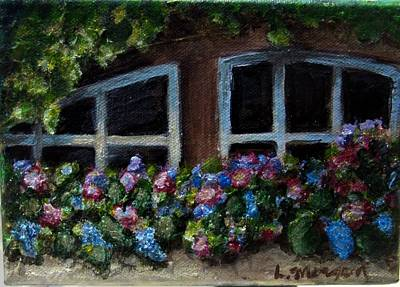 Painting - Window Box Wonder by Laurie Morgan