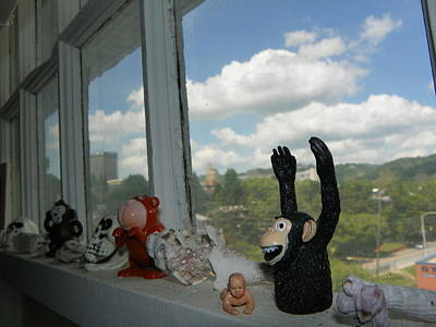 Window Buddies Art Print by Bernie Smolnik