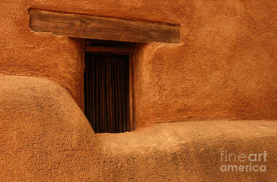 Window Detail Degrazia Mission In The Sun Art Print