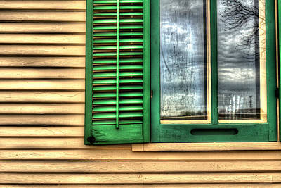 Photograph - Window Detail Kline Creek Farmhouse by Roger Passman