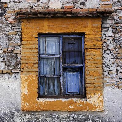 Window Detail Mexico Square Art Print