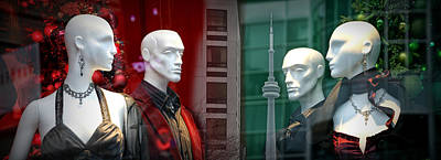 Photograph - Window Display In Toronto At Christmas Time by Randall Nyhof