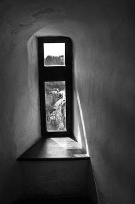 Window Dracula's Castle Interior204 Art Print by Dorin Stef