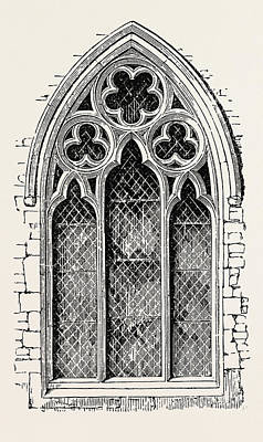 Meopham Drawing - Window From Meopham by English School