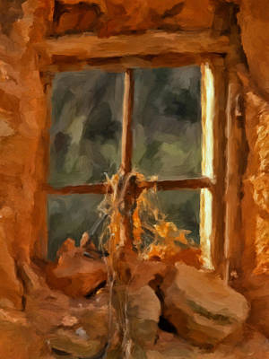 Window From The Past Art Print by Michael Pickett