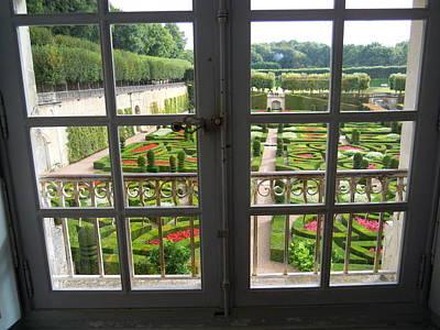 Photograph - Window Garden View by Ellen Meakin