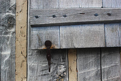 Photograph - Window Hardware Tan 3 Horizontal by Mary Bedy