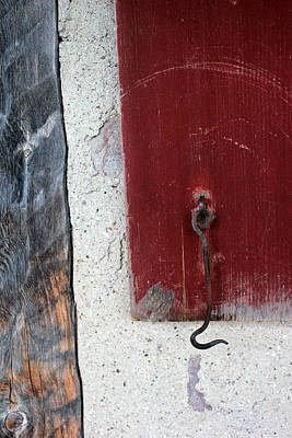 Photograph - Window Hook Red by Mary Bedy