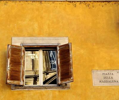 Photograph - Window In Piazza Della Maddalena  by Caroline Stella