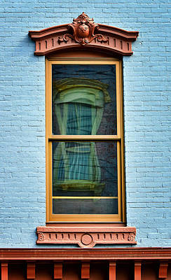 Art Print featuring the photograph Window In Window In Red Bank by Gary Slawsky