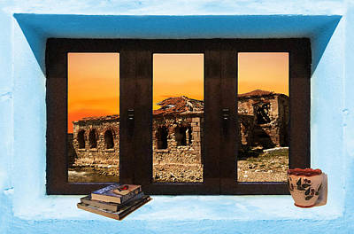 Meditation Photograph - Window Into Greece 5 by Eric Kempson