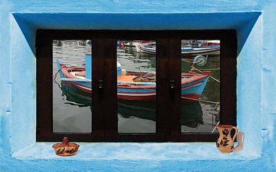 Photograph - Window Into Greece 6 by Eric Kempson