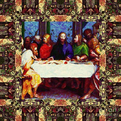 Window Into The Last Supper 20130130sep Art Print by Wingsdomain Art and Photography