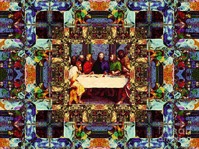 Window Into The Last Supper 20130130v2-horizontal Art Print by Wingsdomain Art and Photography