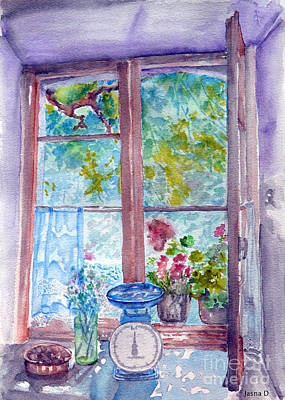 Art Print featuring the painting Window by Jasna Dragun