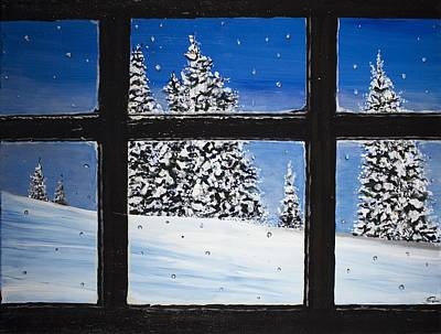 Painting - Window by Joel Tesch