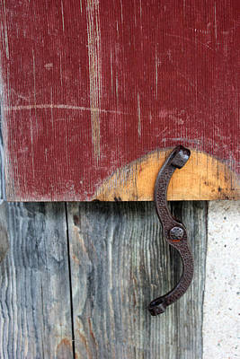 Photograph - Window Latch Red Window 2 by Mary Bedy