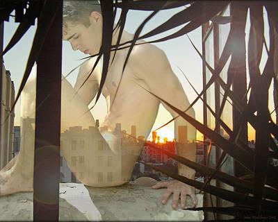 Window Ledge Ghost Boy Art Print