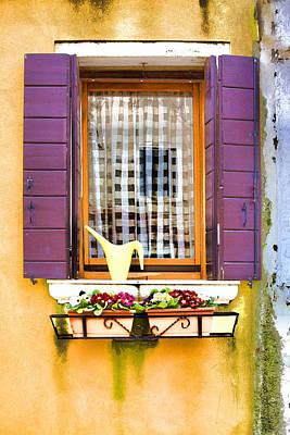 Photograph - Window Love Italy by Indiana Zuckerman