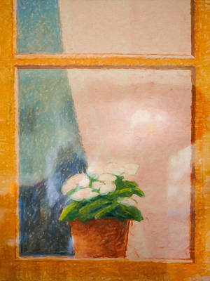 Painting - Window by Lutz Baar
