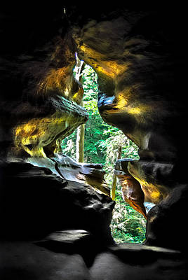 Cavern Digital Art - Window Of Light by Optical Playground By MP Ray