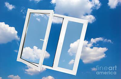 Entrance Photograph - Window On Blue Sky by Michal Bednarek